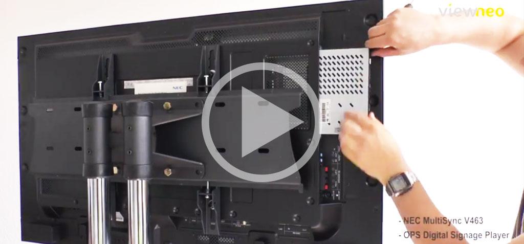 Video: NEC Monitor mit integriertem OPS Digital Signage Player und viewneo