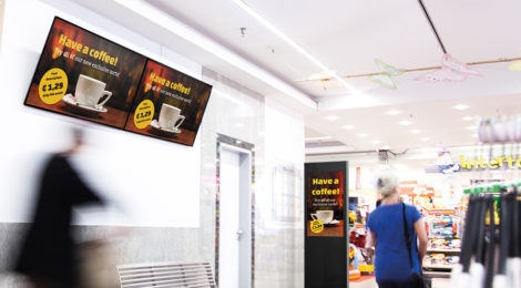 digital signage einkaufszentrum