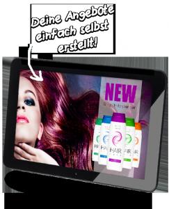 Digital Signage für Frisöre mit viewneo