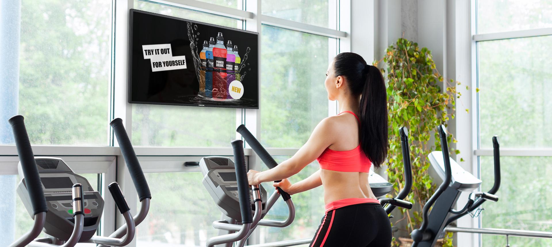 Digital Signage für Fitnessstudios mit einem Fitness TV