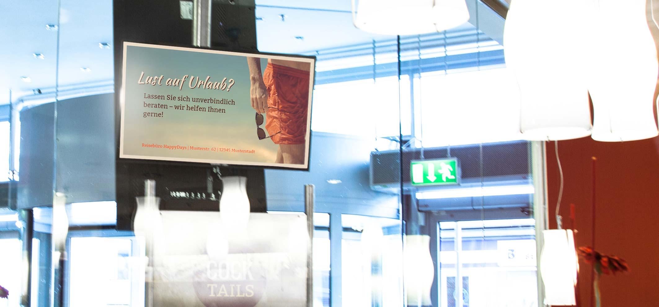 8 Gründe für Digital Signage im Reisebüro