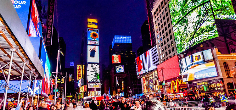 Outdoor Digital Signage am Times Square