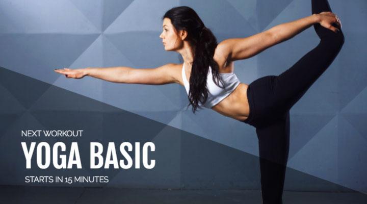 Digitaler Screenshot Digitaler Kursplan für Fitnessstudios