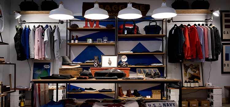 trends im handel, showroom im modegeschäft