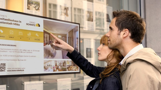 Digital Signage being used in Real Estate