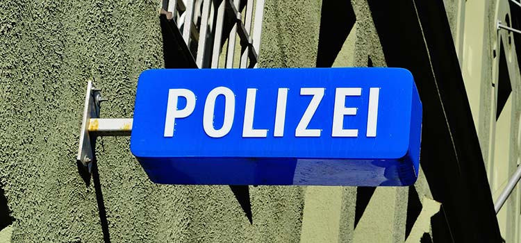 Digital Signage Polizei