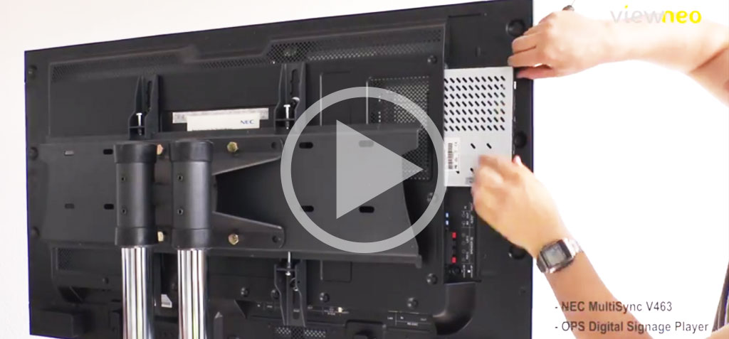 Video: NEC Monitor with integrated OPS Digital Signage Player and viewneo Software