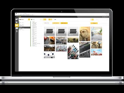 macbook-showing digital signage software viewneo