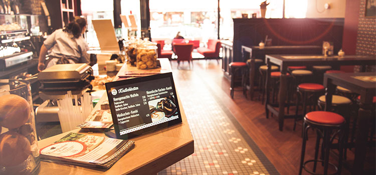 Interactive Tablet PC for restaurants