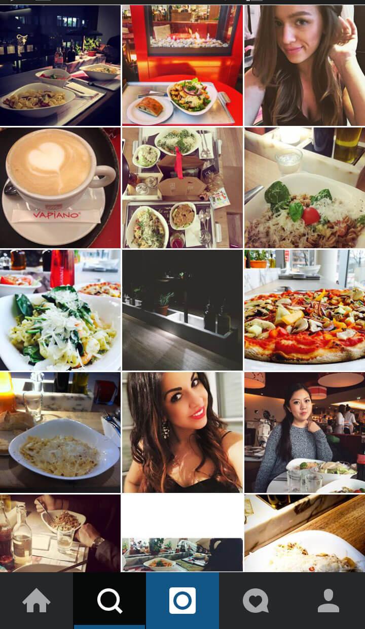 Best Practise Restaurant Marketing Vapiano Screenshot