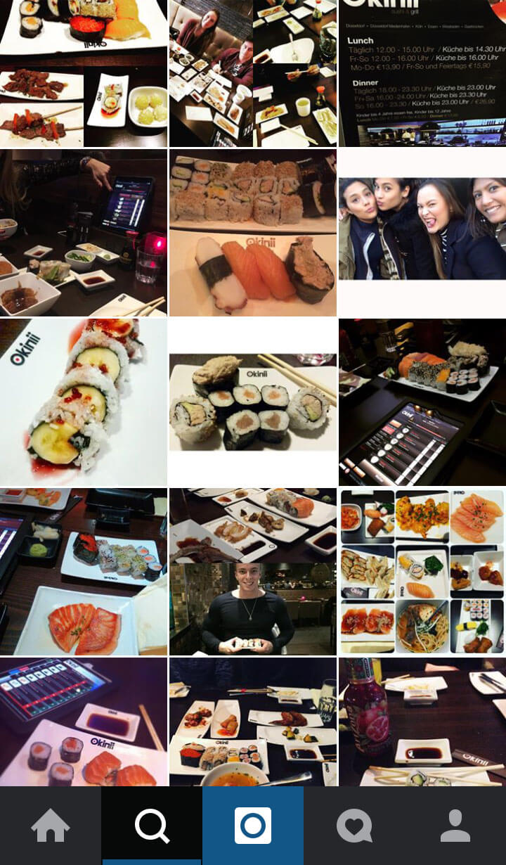 Best Practise Restaurant Marketing Okinii Screenshot