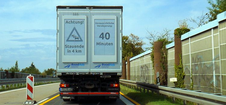 E-Paper Display installed on a truck