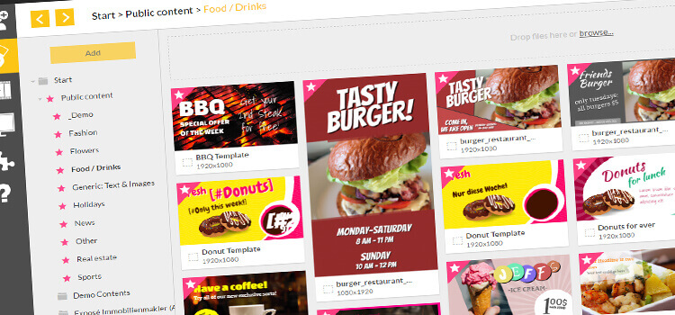 Free digital menu board templates