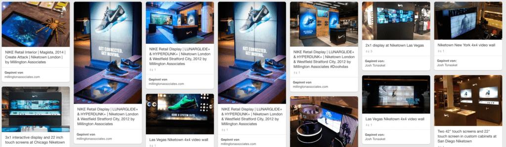Pinterest Screenshot Nike Interactive Solutions