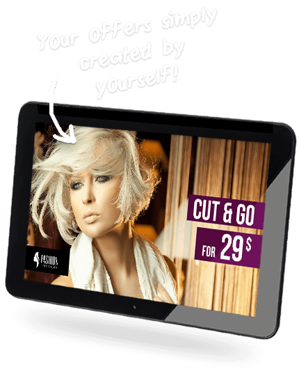 Tablet for Hair Salon Ads