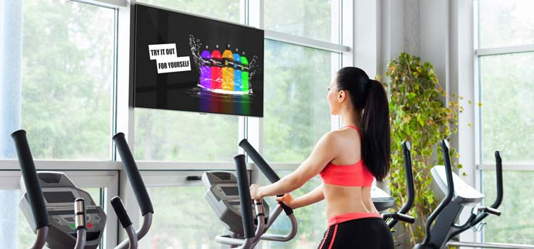gym digital display