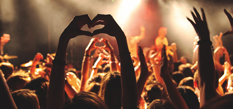 engagement at a concert