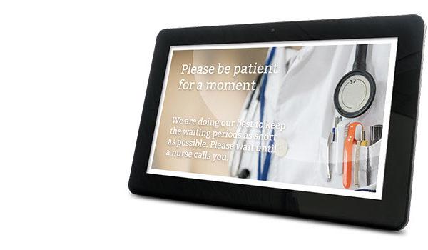 Digital Signage on a tablet