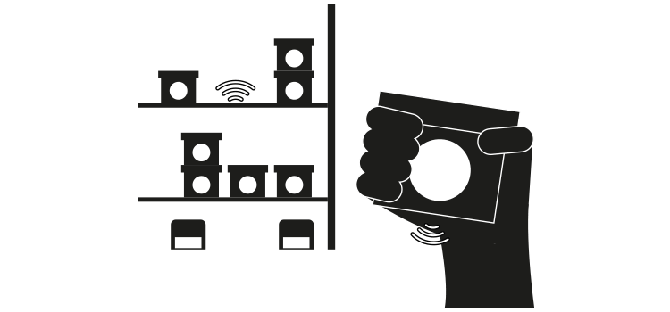 RFID sensor technology illustration