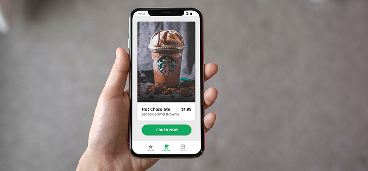 Starbucks mobile ordering app